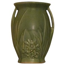 1940+ Hull/Mc Pottery Style Vase with Naturalistic Theme