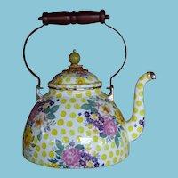 Mackenzie-Childs Teapot in Retired Buttercup Pattern