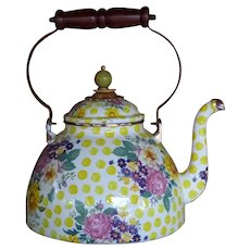 Mackenzie-Childs Teapot in Retired Buttercup Pattern