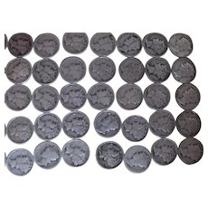 50 Mercury Dimes Various Dates