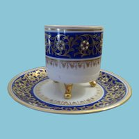 Demi-tasse Cup and Saucer Mitterteich Porcelain