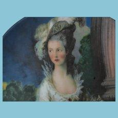 Porcelain Plate -  The Honorable Mrs. Graham