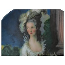 Porcelain Plate -  The Honorable Mrs. Graham