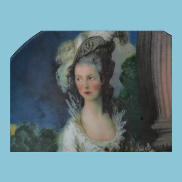 Porcelain Plate - Portrait of the Honorable Mrs. Graham from Oil on Canvas in 1777