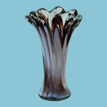 C 1960 Murano Art Glass Vase