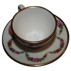 Caverswell England Miniature Cup and Saucer Signed