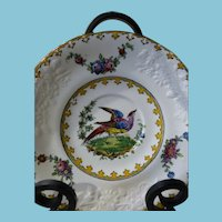ca. 1891 Copeland Spode in London Shape w/Bird and Flowers