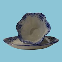 c. 1940 - 1966 Dainty Blue Daisy Cup and Saucer