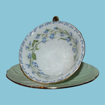 Shelley Teacup and Saucer in Harebell Pattern