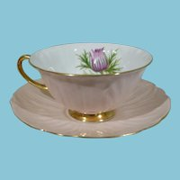 ca 1900 Shelley Thistle Oleander Teacup and Saucer