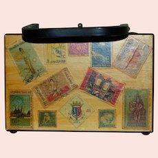 ca 1960 Signed Purse with Stamps from the East