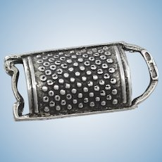 800 Silver Miniature Grater From Italy Lovely Miniature Perfect for Doll House
