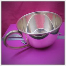 Minty and Elegant Sterling Baby Cup That is Perfect For Boy or Girl With Clean Lines and Graceful Design From Japan 1960's