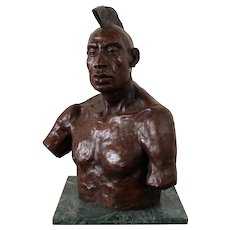 "Bronze Sculpture ""Mohawk"" by Saratoga Bay Area Artist, Mike Eros"