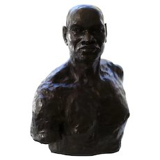 Male Bust Cast in Bronze by Saratoga Bay Area Sculptor Mike Eros