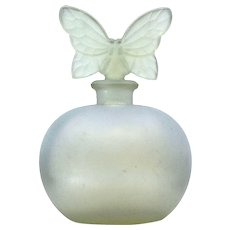 Glass Perfume Bottle With Pretty Butterfly Stopper