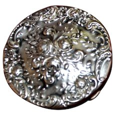Lovely Vintage Sterling Compact By Gorham in Excellent Condition