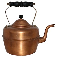Classic English Copper Kettle With Warm Appeal From 1950's