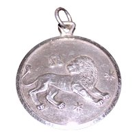 Leo Pendant from Italy Vintage 1970's Dimensional Lion