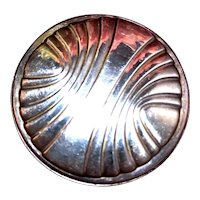 1980's Towle Sterling Silver Round Mirror For Purse or Backpack