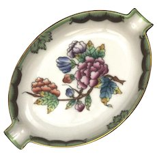 Queen Victoria Pattern Hungarian Porcelain Ashtray By Herend Perfect Minty Condition