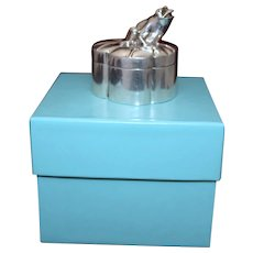 Sterling Tiffany & Co Frog Box With Orig Blue Tiffany Presentation Gift Box