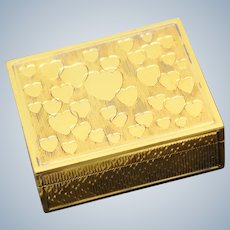Asprey of London Sterling Pill Box With Dancing Hearts in Gold Plating from Purveyors of UK Luxury Treasures