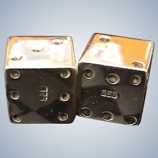 Sterling Dice Excellent Vintage Pair of Full Size for Gaming or Display Perfect for Gift