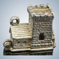 English Sterling Church Charm For Bracelet Opens to Wedding Mechanical Charm From United Kingdom