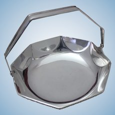 Tiffany & Co. Sterling Silver Fruit Basket Octagonal Shape With Swinging Handle