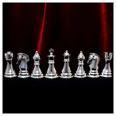 Towle Silverplated Chess Salt Pepper Shakers