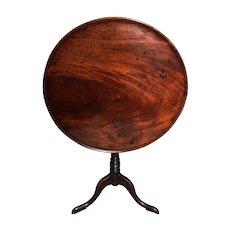 Antique 18th Century George III Mahogany Tilt Top Tea Table