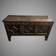 Antique 17th Century Charles II Oak Coffer or Chest