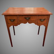 Antique 18th Century George III Oak Lowboy Table