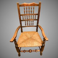 Antique 18th Century George III Lancashire Spindle Back Chair
