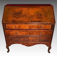 Antique 18th Century Colonial Queen Anne Slant-Front Desk