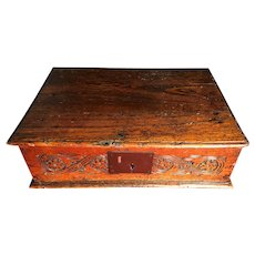 Antique 17th Century Charles II Bible Box