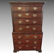 Antique 18th Century George III Mahogany Tallboy Chest on Chest