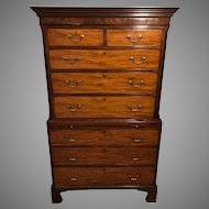 Antique 18th Century George III Mahogany Chest on Chest