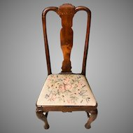 Antique 18th Century Queen Anne Mahogany Side Chair