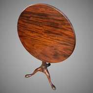 Antique 18th Century George II Mahogany Tilt Top Table