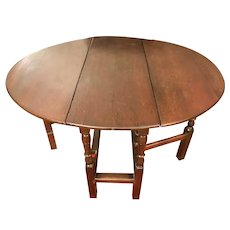 18th Century George I Oak Gate Leg Table