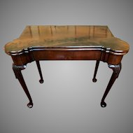 Antique 18th Century George II Mahogany Games Table