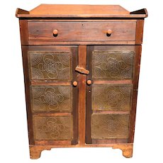Antique 19th Century American Walnut Pie Safe