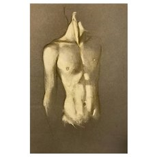 "Newly Discovered--Robert R. Bliss (1925-1981) Torso Painting (1959) -- 18"" x 12"""