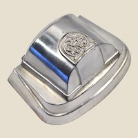 Extremely rare 1930s nickel-plated antimony ring box