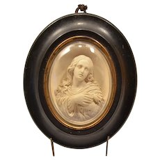 French XIX century masterly carved Virgin Mary meerschaum