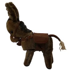 1920/ 30's Wind up clockwork mohair donkey