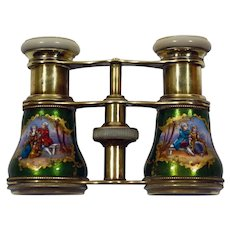 Enamel & Mother of pearl opera glasses