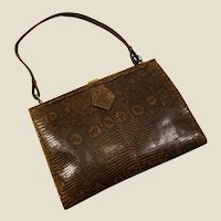 Amazing 1930 genuine French Art Deco lizard purse